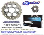 LIGHTWEIGHT RACE GEARING: Renthal Sprockets and Tsubaki TX4 Pro Race Chain - Ducati 1199 Panigale R (2012-2016)